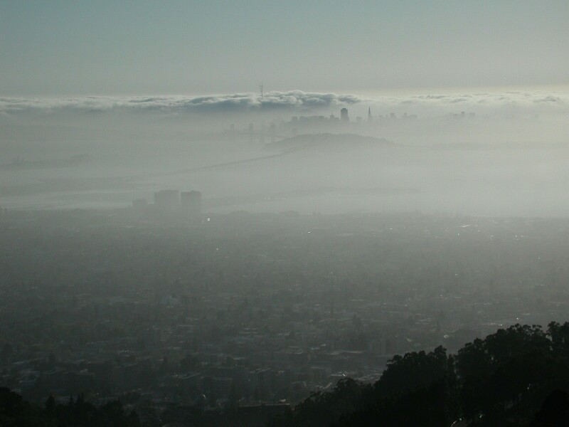 San Francisco viewed from the Berkeley Hills by Bill Turlock, 2002